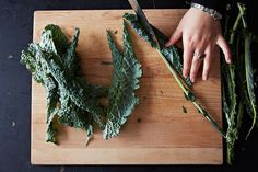 We'll never let go, Kale. The 9 Best Things to Do with Your Kale in January via Kale Recipes, Vegetable Recipes, Whole Food Recipes, Cooking Vegetables, Healthy Recipes, Healthy Foods, Recipies, Pickles, How To Cook Kale