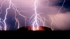 Spectacular storm over Ularu, Australia