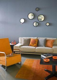 moderne wohnzimmer wandgestaltung wohnzimmer wandgestaltung modern ... - Wandgestaltung Wohnzimmer Orange