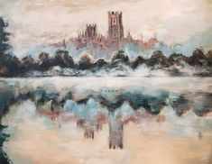 Items similar to Mist on the Water Original Painting Cotswolds Countryside English Idyllis Lake Ducks Swan Swimming Dawn Glow Castle Monastery Ideal Solitude on Etsy Countryside Village, English Countryside, Acrylic Paint On Wood, Painting On Wood, Beautiful Artwork, Cool Artwork, Solitude, Faeries, Ducks