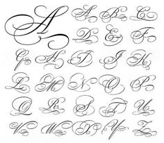 Script Capital Letters | Calligraphy