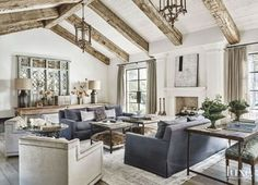 Love the vaulted ceiling