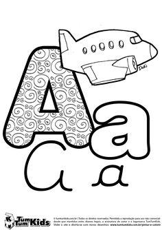 Letra A de Avião                                                                                                                                                                                 Mais