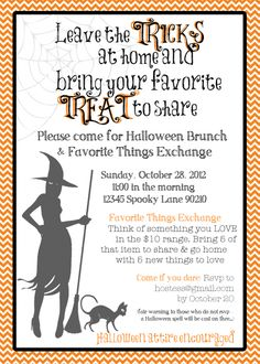 Favorite Things Party invitation