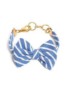 Kiel James Patrick Light Blue Stripe Bow Bracelet - Brooks Brothers