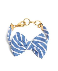 Kiel James Patrick Light Blue Stripe Bow Bracelet - Brooks Brothers