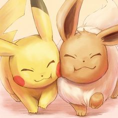 Pokémon: Let's Go Pikachu! & Let's Go Eevee! Pikachu Drawing, Pikachu Art, Cute Pikachu, Pokemon Fan Art, Eevee Cute, Eevee Wallpaper, Cute Pokemon Wallpaper, Cute Cartoon Wallpapers, Cute Animal Drawings