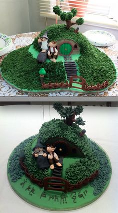 hobbit cake! For brennens 8th birthday! He will love this!