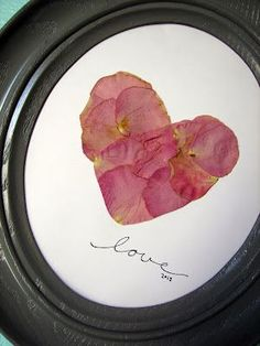 Pressed flower petals from wedding bouquet, so nice!