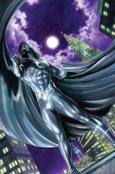 Alex Ross/Marvel/Vengeance of the Moon Knight Marvel Comics Art, Marvel Comic Books, Comic Book Heroes, Marvel Heroes, Comic Books Art, Marvel Fan, Comic Book Artists, Comic Book Characters, Comic Artist