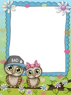 G ood for announc Frame Border Design, Page Borders Design, Borders For Paper, Borders And Frames, Kindergarten Coloring Pages, Owl Theme Classroom, My Children Quotes, Owl Clip Art, Kids Background