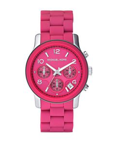 78c530a26920 Michael Kors Ladies Watch With Pink Dial And Pink Silicone Bracelet