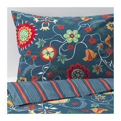 ROSENRIPS Bettwäscheset, 2-teilig IKEA Kühle Bettwäsche aus Perkal, einem dichtgewebten, feinfädigen Baumwollgarn.