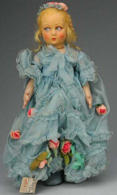 Lenci Dolls Cloth girl with Lucia face with molded face with beautifu