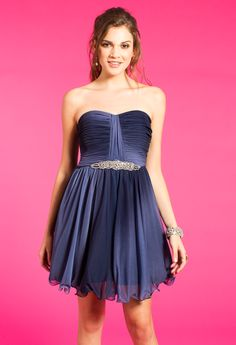 Strapless Ombre Dres