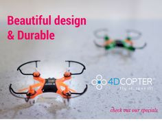 "4DCopter TM : X-Drone Nano 2.0 - ""Beautiful Design and Durable"" - Aerial Drone Quadcopter Radio Controlled RC flyer Quad Copter Helicopter - nano micro mini small - Worry-Free Warranty - ""Fly it, Love it!"""