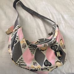 Harajuku lovers handbag!  I'm selling a matching handbag with it! This one is smaller and easy carry bag! Pink and gray. Condition is 9/10. Harajuku Lovers Bags