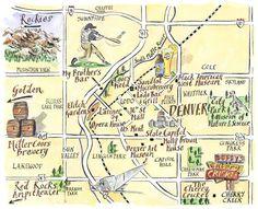 sweet home colorado: denver map