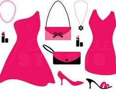 Pink and black girly accessories
