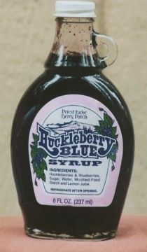 Huckleberry-Blueberry pancake and waffle syrup!