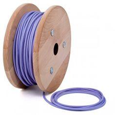 Light Puprple Round Textile Cable cablelovers.com