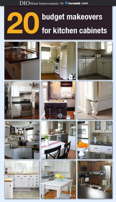 20 Budget Makeovers for Kitchen Cabinets