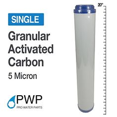 Pro Water Parts X 20 in Granular Activated Carbon GAC Filter Cartridge 10 Micron Water Purification Process, Water Purification Tablets, Water Filtration System, Under Sink, Bath Fixtures, Water Filter, Filters, Faucets, Bottle