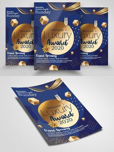 Golden Awards, Night Show, Party Flyer, Grand Opening, Business Flyer, Opening Day