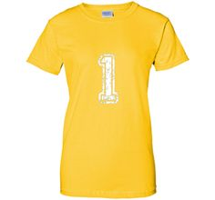 Distressed Number 1 Jersey T-Shirt
