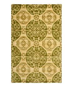 Honey & Green Hudson Rug by Safavieh Rugs #zulily #zulilyfinds
