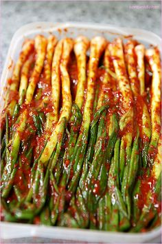 Pa kimchi (Green onion kimchi) 파김치