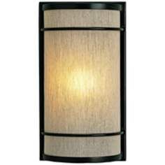 """Currey and Company Dorset 13"""" High Iron Wall Sconce"""