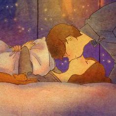 Kiss me. acurrucate on me Love Cartoon Couple, Cute Love Cartoons, Cute Cartoon, Couple Illustration, Illustration Art, Couple Drawings, Art Drawings, Anime Love, Puuung Love Is