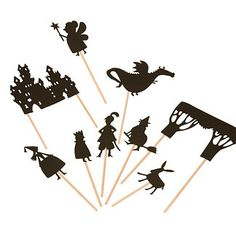 Night-time shadow puppets for bedtime story telling made by French toy designers Moulin Roty. Moulin Roty has been artfully designing and beautifully manufacturering toys for over 40 years. Shadow Theatre, Puppet Show, Puppet Making, 242, Shadow Puppets, Le Moulin, Night Time, Storytelling, Fairy Tales