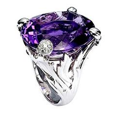 "Dior ""Miss Dior"" with white gold, diamonds and amethyst. My Birthstone. February 12, friends! Hint, hint!!! ;)"