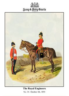 """The Royal Engineers 1890 From """"Types of the British Army"""" By Richard Simkin"""