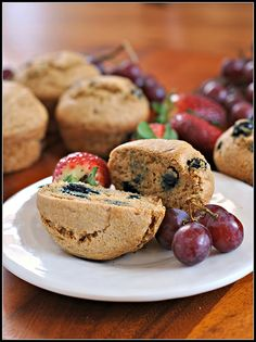 Healthy Whole Wheat Blueberry Muffins 4 by preventionrd, via Flickr