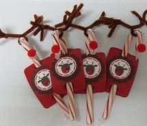 candy cane reindeers – cards, stamps and paper crafts at splitcoaststampers.com picture on VisualizeUs