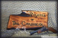 Pirates of the Caribbean Sign Pirate Decor Pirate Sign Gift
