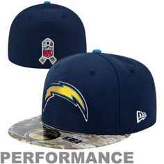 New Era San Diego Chargers Salute To Service On-Field 59FIFTY Fitted Performance Hat - Navy Blue #SalutetoService