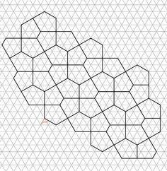 Resultado de imagen de pentagon pattern