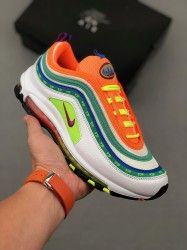Nike Air Max 97 Premium 97 White Green Orange Ci1504 100 Unisex