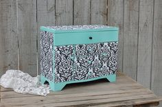Jewelry Box Jewelry Armoire Shabby Chic Mint by TheVintageArtistry, $129.00