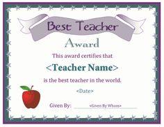Stupendous image within free printable teacher appreciation certificates
