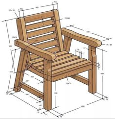 These free Adirondack chair plans will help you build a great looking chair in just a few hours, Build one yourself! Here are 18 adirondack chair diy Diy Furniture Couch, Diy Chair, Pallet Furniture, Furniture Projects, Rustic Furniture, Wood Projects, Luxury Furniture, Garden Furniture, Kids Woodworking Projects