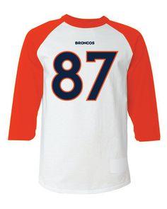 Denver Broncos Style Raglan T-Shirt/Jersey Eric Decker sz. Large on Etsy, $23.99