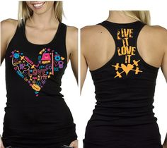 <3 this...WOD Girls Life Multicolored Heart Tank
