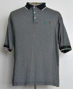Greg Norman Shirt XL Mens Short Sleeve Polo Rugby Blue Geometric 100% Cotton  #GregNorman #PoloRugby free shipping auction starting at $12.99