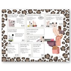 Mary Kay skin care class placemat, closing sheet, set sheet. Customize four sets just for you!! Find it on www.thepinkbubble.co!!!
