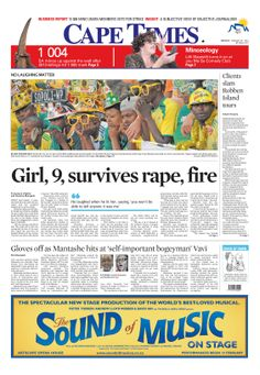 News making headlines: Girl, survives rape and fire
